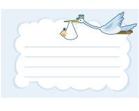 Grue de carte de voeux de fête de naissance avec la ligne Photographie stock libre de droits
