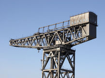Grue de chantier de construction de navires Photo libre de droits