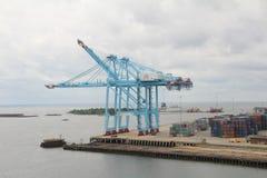 Grue de chantier de construction navale Photo libre de droits