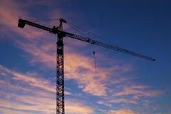 Grue de construction Photographie stock