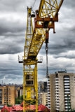 Grue de construction Photographie stock libre de droits