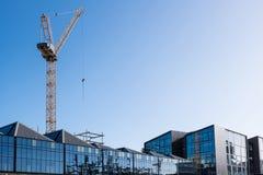 Grue de construction de bâtiments à Auckland, Nouvelle-Zélande, NZ Photographie stock