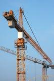 Grue de construction jaune Photo stock