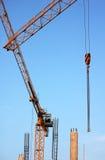 Grue de construction jaune Image stock