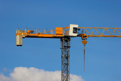 Grue de construction jaune Image stock