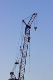 Grue de construction jaune Images libres de droits