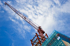 Grue de construction moderne Image stock