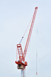 Grue de construction rouge Photographie stock