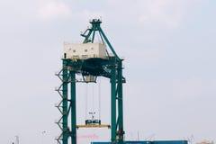 Grue de dock de fret Images libres de droits