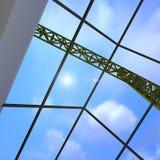 Grue de lumière de ciel Image stock