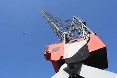 Grue de port Photo libre de droits