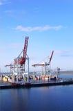 Grue de port photographie stock