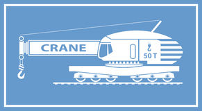 Grue de rail Image libre de droits