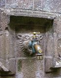 Grue dont les pèlerins ont par le passé bu l'eau Mont Saint-Michel, France photo stock