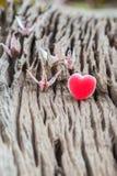 Grue et coeur de papier de couples d'origami Images stock