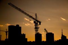 Grue et construction Image libre de droits