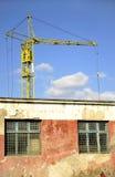 Grue et construction Images stock
