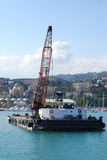 Grue et plate-forme Photo stock