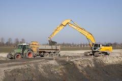 Grue hydraulique dans l'action Image stock