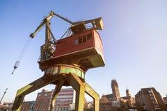 grue intérieure de port de Duisbourg Allemagne Image libre de droits