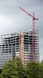 Grue rouge de TowerConstruction Images libres de droits