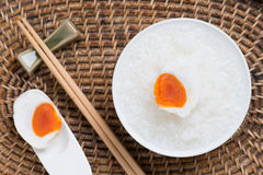 Gruel and salted egg, chinese food style Royalty Free Stock Images