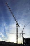 Grues de construction Photos stock
