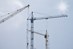 Grues de construction Images stock
