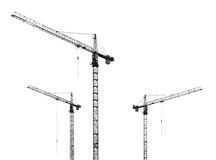 Grues de construction Photos stock