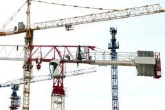 Grues de construction Image stock