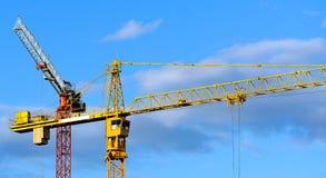 Grues de construction Images libres de droits