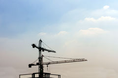 Grues de construction industrielles Images stock