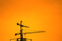 Grues de construction industrielles Image libre de droits