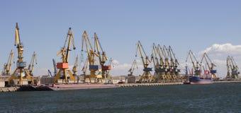 Grues de port Photographie stock