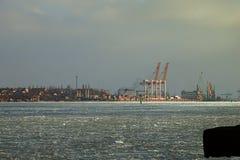Grues de port Images libres de droits