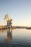 Grues du port de Trieste photographie stock libre de droits