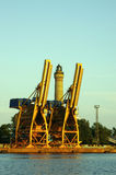 Grues gauches Images stock