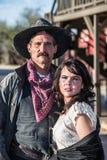 Gruff Man And Woman Royalty Free Stock Photo