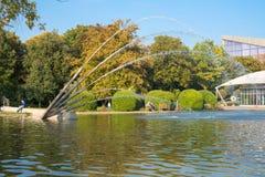 Gruga park pond Royalty Free Stock Photo