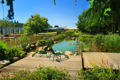 Gruga park pond stock photography