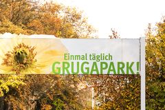 Grugapark sign in essen germany. Essen, North Rhine-Westphalia/germany - 02 11 18: grugapark sign in essen germany stock image