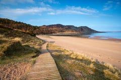Gruinard strand i Skottland Royaltyfria Foton