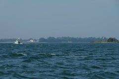 Gruise-Schiff im Adreatic-Meer nahe Venedig Stockfotos