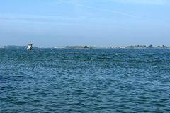 Gruise ship in the Adreatic sea near Venice, Italy Royalty Free Stock Photography