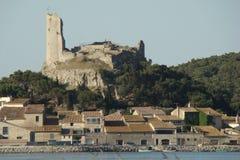 Gruissan by i Frankrike Arkivbild