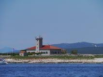 Grujica lighthouse in the Mediterranean Stock Photo