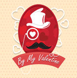 Grußkarte durch meine Valentinsgruß glückliche Tagesvektorillustration Musterdesign Flieger oder Einladung Lizenzfreie Stockbilder