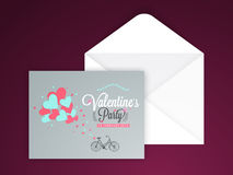 Grußkarte für Valentinstagfeier Stockbild