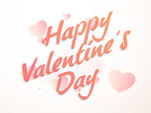 Grußkarte für Valentinstagfeier Lizenzfreies Stockbild