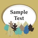 Grußkarte mit Herbstblättern Stockfoto